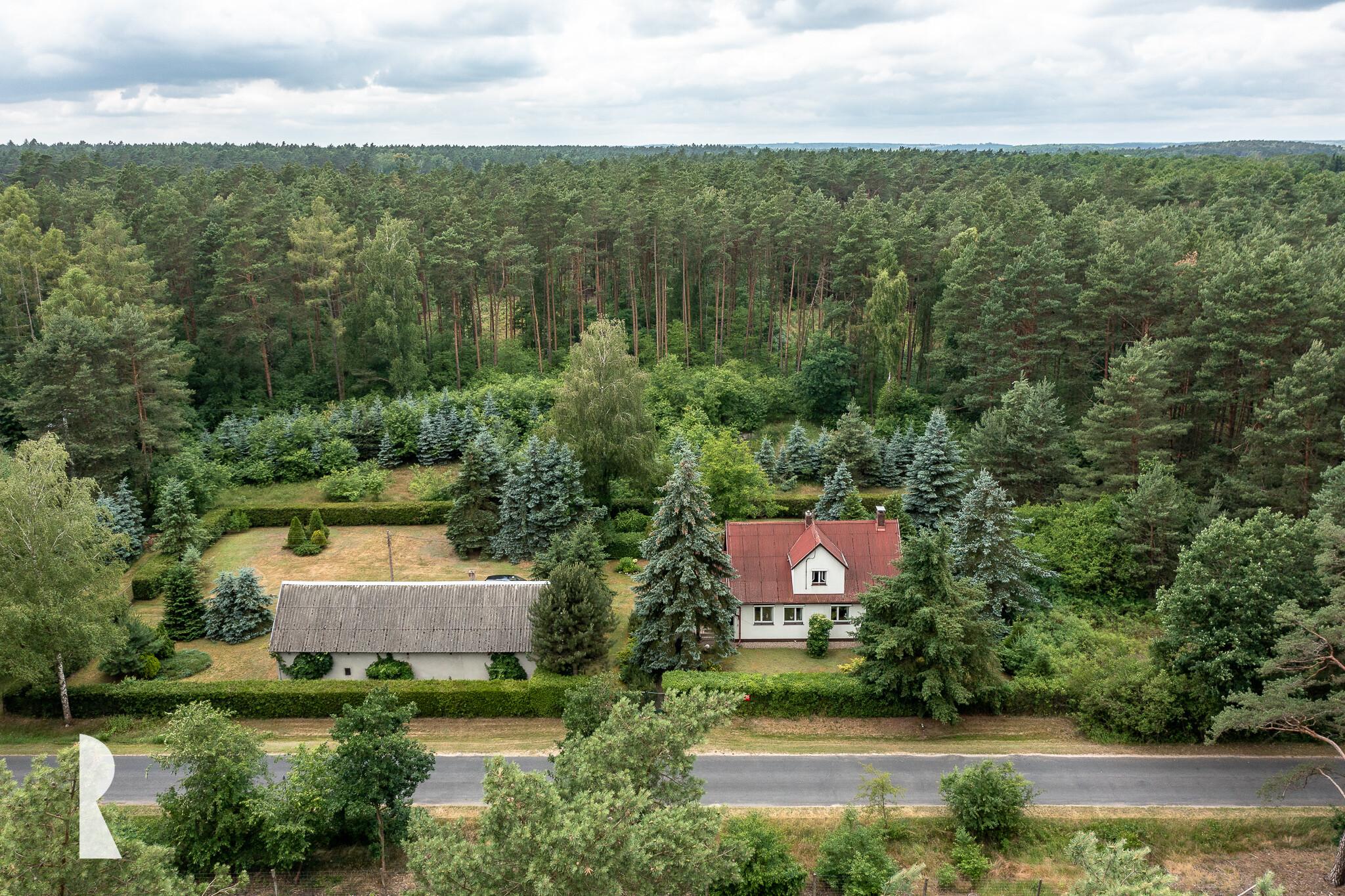 Dom w otulinie lasu w Łopuchówku