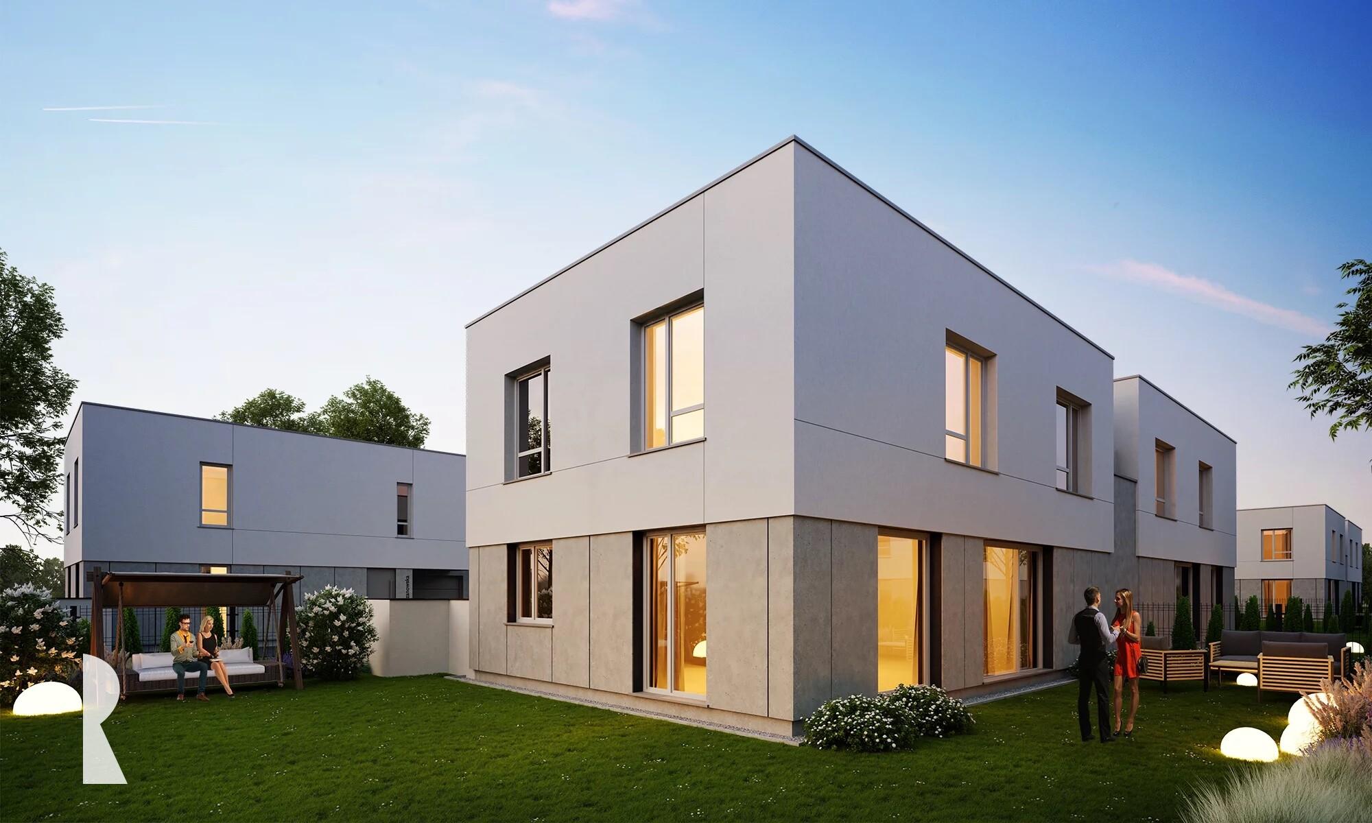 Komfortowy nowoczesny dom z dużym ogrodem